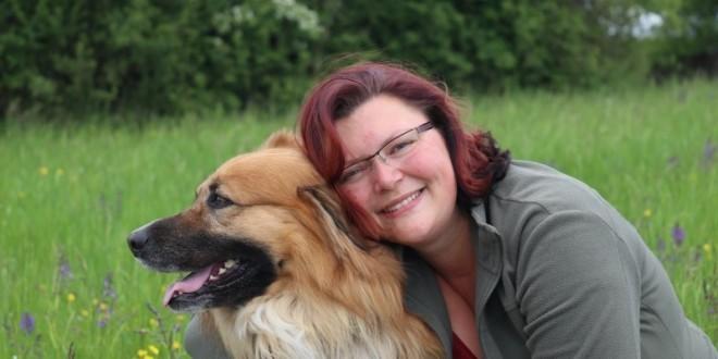 Jacqueline Geisel und ihr Hund Leopold