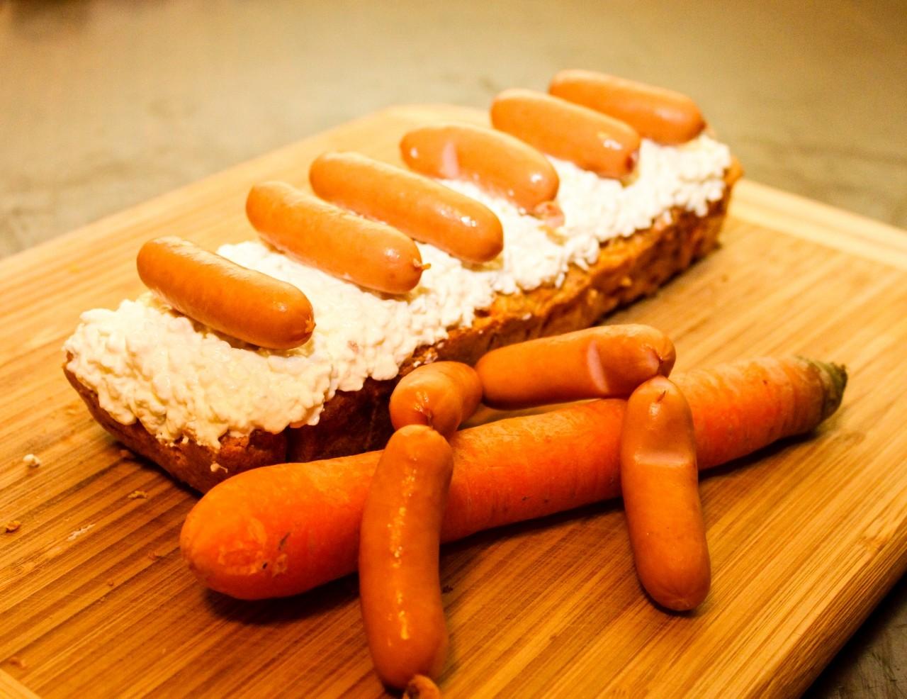ein Karottenkuchen für Hunde